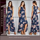 2018 Fashion femme Floral Casual Maxi robe robes de plage (TONY0420)