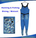 Os homens que caçam o mergulho da planície da aptidão da pesca calç o Wetsuit de Trathlon