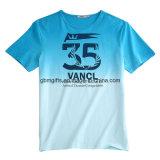 100% personnalisé en gros Pima Cotton Blue T-Shirt