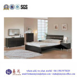 Muebles blancos del dormitorio de la melamina de la sola base del color de China (SH041#)
