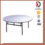 高品質の円形の合板のホテルの折りたたみ式テーブル(BR-T059)