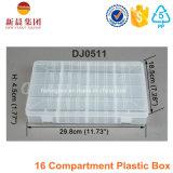 Caixa plástica desobstruída de 16 compartimentos