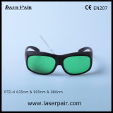 Rtd-4 630 - 660nm O.D3+ y 800 - gafas de seguridad de laser de 830nm O.D3+ y de 900-1100nm O.D5+ para el rojo, Ce En207 de la reunión de los lasers del diodo