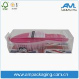 Rectangle Clear Transparent Plastic Container Brush Caixa de embalagem com cabide