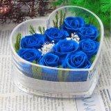 Коробка творческой конструкции упаковывая для цветков с ясной акриловой формой сердца цветет коробка