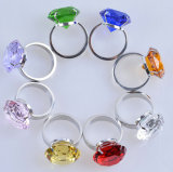 кольцо салфетки диаманта 80mm большое цветастое кристаллический для сувенира