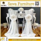 Faixa elástica da cadeira das faixas com a curvatura para o casamento