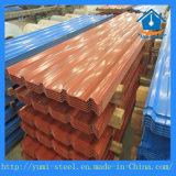 Feuilles en acier ondulées colorées de toiture en métal pour le revêtement en acier de construction
