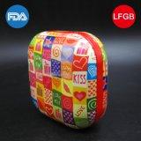 Pequena caixa de lata de jóias colorido quadrada pequena / recipiente (S001-V11)