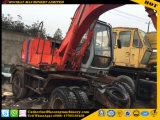 Excavadora de ruedas usadas Hatachi Ex100W de la excavadora de rueda Ex100W