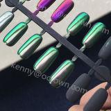 Color verde oscuro que cambia de puesto el polvo fotocrónico del clavo del efecto del espejo del pigmento