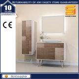 '' Governo di legno della mobilia della stanza da bagno della melammina nera della lacca 36 con i piedini