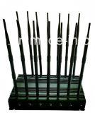 14 Antena 3G 4G Celular Jammer para Lojack Wi-Fi + Controle Remoto 433 315 868MHz + GPS + VHF / UHF Rádio + Lojack Sinal Celular Wireless GSM Jammer
