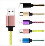 Цветастым заряжатель сплетенный нейлоном USB данным по Caable для весь микро- Port поручать