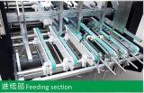 Máquina acanalada de Gluer de la carpeta del rectángulo con el bloqueo inferior (GK-1200/1450/1600AC)