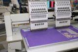 Máquina computarizada 2 cabeças do bordado do tampão com área de funcionamento de 400*450mm e 8 polegadas de tela de toque