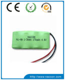 170mAh 4.8V 1/3AAA NiMH電池のパック
