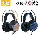 Auriculares audio estereofónicos do computador do jogo Hz-115 com microfone