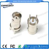 Connecteur BNC femelle CCTV avec joint et écrou à vis (CT103)
