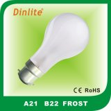 lampadina incandescente Morbido-bianca di A21 E27 100W
