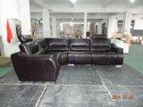 Sofá moderno da mobília da sala de visitas com canto do couro do Recliner