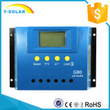 regolatore G80 della carica di PV delle cellule di comitato solare di 80AMP 12V/24V 24h-Backlight