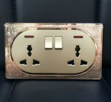 Socket Switched British Standard Mosaic Double 13A multi-fonctionnel avec Neon