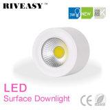 3W LEDの穂軸の表面によって取付けられるDownlight白いLEDの照明