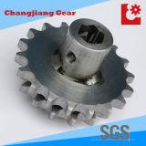 Ruota dentata saldata industriale dell'acciaio inossidabile della scanalatura della trasmissione della catena della rotella