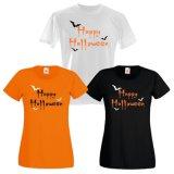 T-shirts heureux unisexes de Veille de la toussaint avec les tailles BRITANNIQUES (A629)