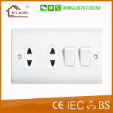 Interruptor de calidad superior 2gang y socket de 2gang 16A 2pin