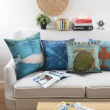 Coberturas de almofada de algodão de algodão com desconto personalizado para o sofá