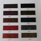 1.3mm 핸드백 (K702)를 위한 두 배 색깔 효력 PU 가죽