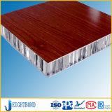 panneau en aluminium de nid d'abeilles des graines en bois de 20mm pour le panneau de mur