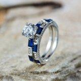 놓이는 파란 약혼 반지 - 9