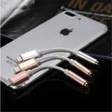 イヤホーンのインターフェイス・コネクタのiPhoneのための可聴周波コンバーターケーブル