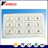 À prova de vandalismo dinâmico K8 em aço inoxidável 15 Teclas de dígitos do teclado plana
