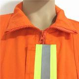 100%年の綿石灰反射テープTrafficeの警官Workwear