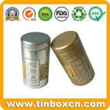 Круглая жестяная коробка чая металла, олов коробки чая