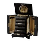 Коробка ювелирных изделий Matt черная универсальная деревянная