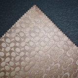 楕円形の浮彫りにされたPVC壁カバー装飾の革家具製造販売業の革