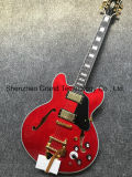 De klassieke Rode Elektrische Gitaar van de Jazz van het Systeem van Tremolo 335 Bigsby (tj-254)