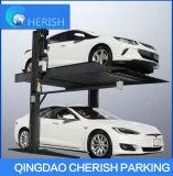 Parque de estacionamento de duas colunas com elevação de marcação