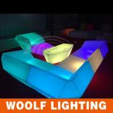 Meubles de boîte de nuit, sofa de boîte de nuit de DEL, sofa changeant d'événement de couleur