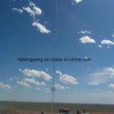 Tour de télécommunication de mât de mât de vent de Guyed