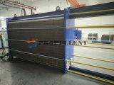 Cambiador inoxidable cristalino de la partícula/de calor de la placa de acero de la fibra/del corredor ancho medio material pegajoso del libre flujo