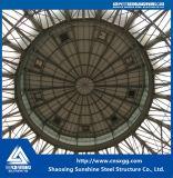 Marco de la estructura de acero del palmo grande con los bragueros para el edificio de acero