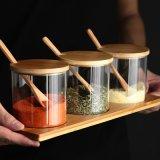 Insieme di vetro del vaso di Spirce del vaso della bottiglia della spezia del vaso della spezia dell'articolo da cucina