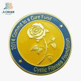 Nuevo diseño de cinco colores de latón de la flor insignia de la Escuela de Pintura personalizada Botón