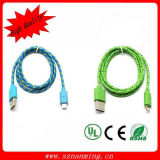 Cable USB de 8 pines para cable USB iPhone5 trenza de nylon Rayo